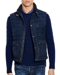 Polo Ralph Lauren Quilted Suede Down Vest