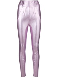 Alyx Metallic Leggings Polyester Spandex Elastane M Pink Purple