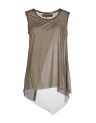 Nicolas And Mark Tank Tops Military Green