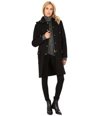 Marc By Marc Jacobs Norman Bonded Wool Techno Duffle Coat Black