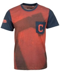 Forever Collectibles Men's Cleveland Indians Pocket Sublimated T Shirt Red Navy
