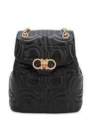 Salvatore Ferragamo Quilted Leather Backpack Black