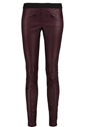 Belstaff Barlow Leather Skinny Pants Red