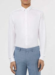 Topman Premium White Long Sleeve Smart Shirt