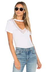 Project Social T Richie Mesh Mix Tee White