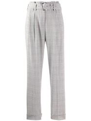 Michael Michael Kors Checked Tailored Trousers White