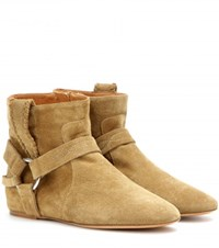 Isabel Marant Etoile Ralf Suede Ankle Boots Beige