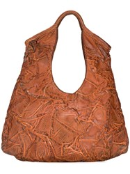 Numero 10 Creased Effect Shoulder Bag Brown