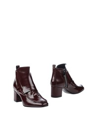 Collection Privee Ankle Boots Maroon