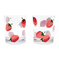 Kate Spade Strawberries Acrylic Tumblers Set Of 2