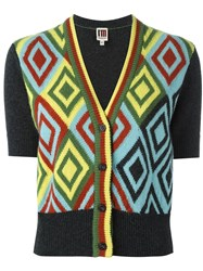 I'm Isola Marras Diamond Intarsia Cardigan Yellow And Orange