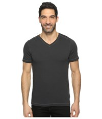 Agave Rusty Short Sleeve V Neck Rough Cut Jersey Stretch Limo Men's Clothing Black