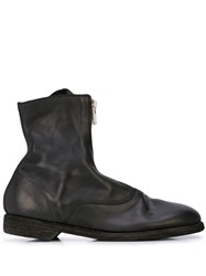 Guidi Zip Up Ankle Boots Black