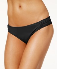Sundazed Viva Ruched Hipster Bikini Bottoms Women's Swimsuit Black