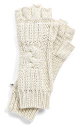 Women's Ugg Australia 'Isla' Metallic Knit Fingerless Gloves Ivory Cream Multi