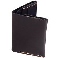 Bison Slim Bi Fold Wallet Jet Black W Top Stitch