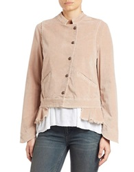 Free People Pleated Hem Jacket Mink