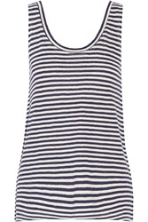 Rebecca Minkoff Gia Striped Linen Tank Blue