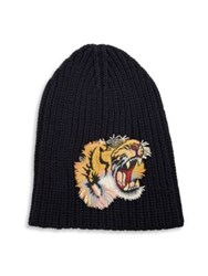 Gucci Tiger Beanie Blue Yellow