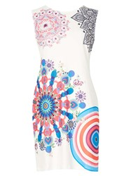 Dorothy Perkins Izabel London Multi White Shift Dress Multi Colour