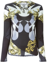 Versace Collection Printed Long Sleeve T Shirt Multicolour