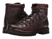Frye Wyoming Hiker Dark Brown Wp Waxed Pebbled Leather Soft Vintage Leather Men's Lace Up Boots