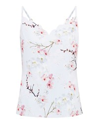 Ted Baker Sirlie Oriental Blossom Cami Top Light Grey