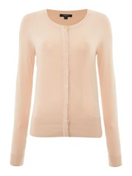 Therapy Sofia Scallop Edge Cardigan Blush
