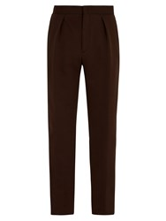Fendi Logo Jacquard Cotton Blend Track Pants Brown