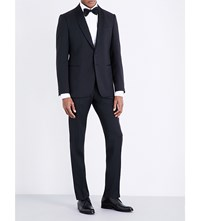 Armani Collezioni Slim Fit Single Breasted Wool Suit Navy