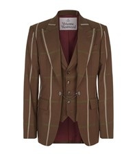 Vivienne Westwood Tailored Jacket With All Over Check Brown