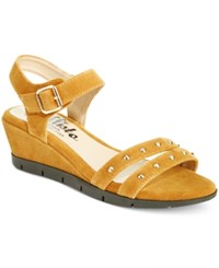 Callisto Plush Wedge Sandals Women's Shoes Tan
