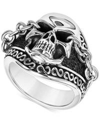 Scott Kay Men's Skull And Chain Ring In Sterling Silver