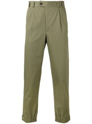 Salvatore Ferragamo Chino Trousers Green