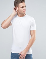 New Look Muscle Fit T Shirt In White Navy