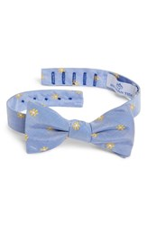 Southern Tide Cumberland Floral Cotton And Silk Bow Tie Yellow Blue