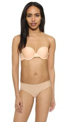 The Natural Seamless Clear Back Bra Nude