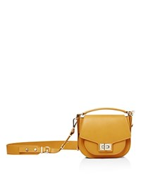 The Kooples Emily Mini Leather Saddle Bag Tan
