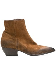 Elena Iachi Pointed Ankle Boots Brown