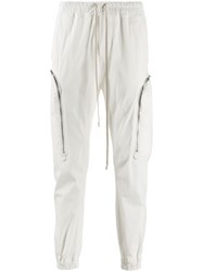 Rick Owens Side Zip Track Pants White