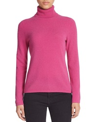 Lord And Taylor Cashmere Turtleneck Sweater Festival Fuchsia
