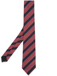 Cerruti 1881 Striped Tie Red