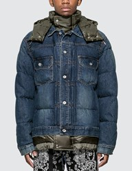 Sacai Denim Down Jacket Multicolor
