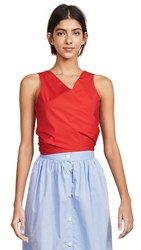 Mds Stripes Sleeveless Everything Blouse Red