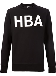 Hood By Air Logo Print Sweatshirt Black