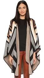 Mara Hoffman Knit Cape Black