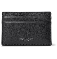Michael Kors Full Grain Leather Cardholder Black