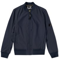 C.P. Company Softshell Arm Lens Bomber Jacket Blue