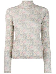 Nanushka Tapestry Flower Jumper Grey