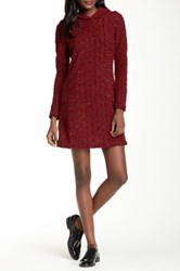 Vfish Dame Hooded Sweater Dress Red
